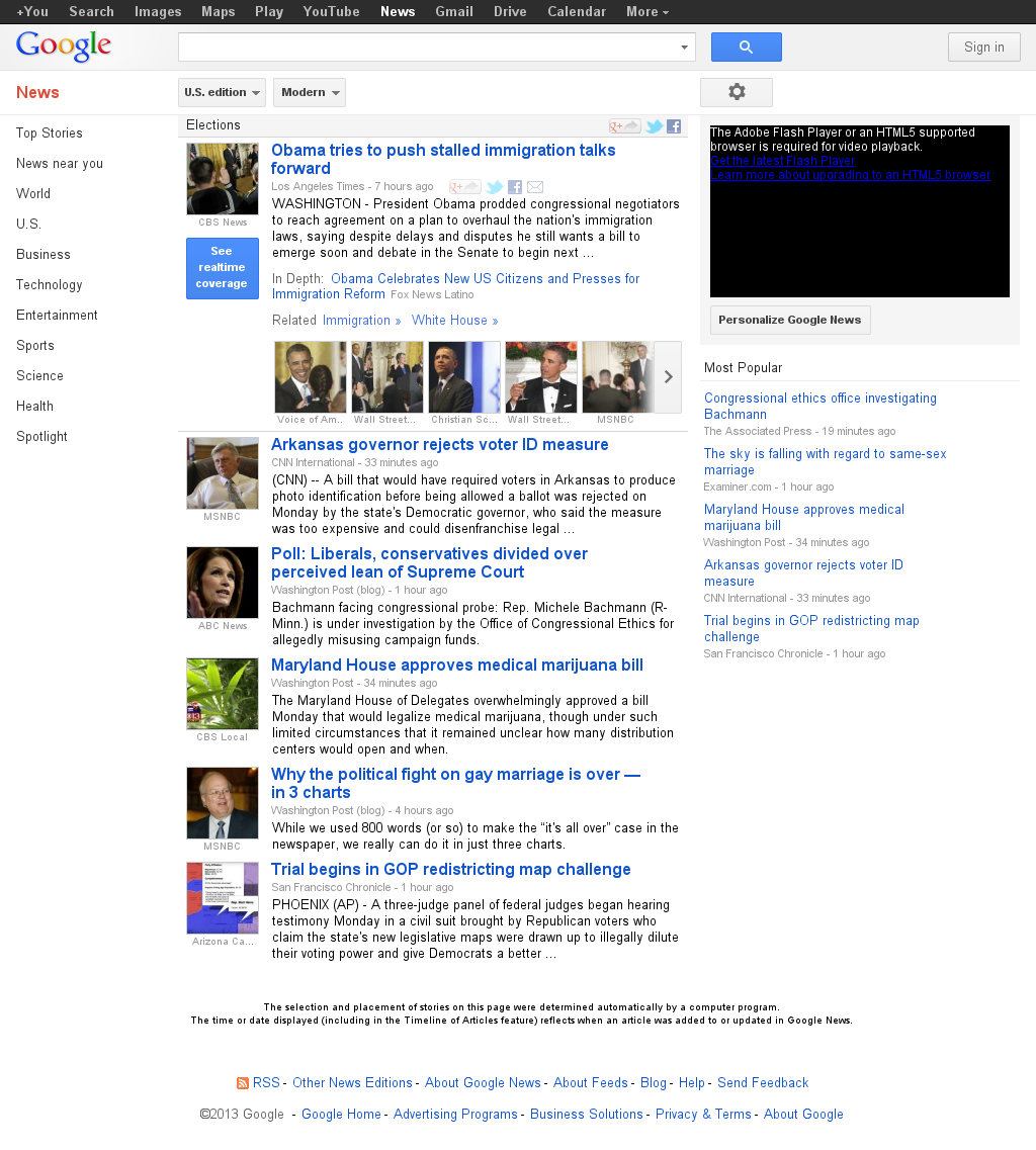 Google News: Elections at Tuesday March 26, 2013, 12:16 a.m. UTC