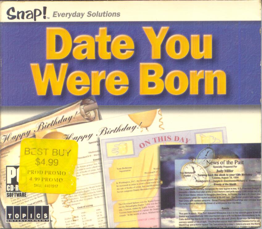 Date You Were Born 2003 Topics Entertainment Jewel Case Art