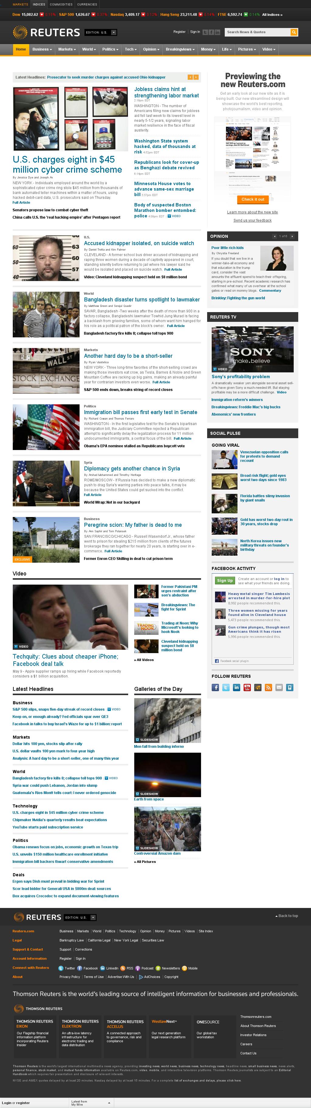 Reuters at Thursday May 9, 2013, 10:43 p.m. UTC