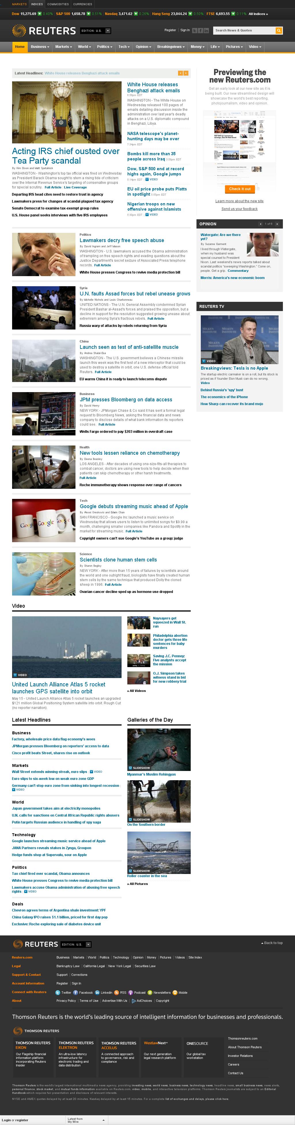 Reuters at Thursday May 16, 2013, 12:23 a.m. UTC