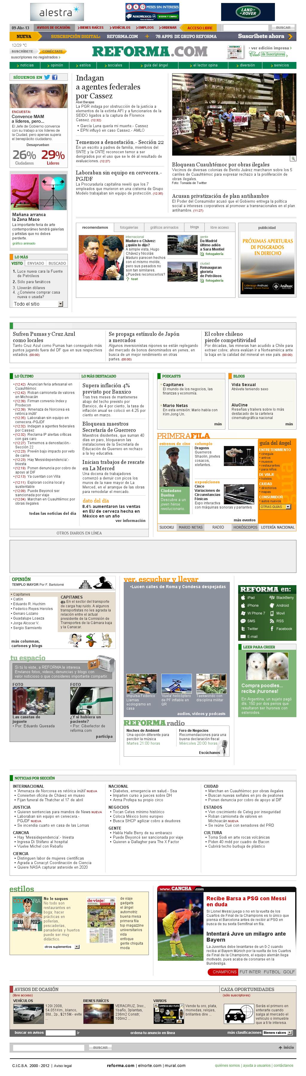 Reforma.com at Tuesday April 9, 2013, 6:18 p.m. UTC