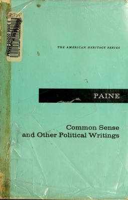 Cover of: Common sense, and other political writings | Thomas Paine